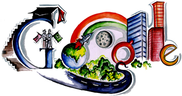 Google Logo: Doodle 4 Google India Winner - Children's day