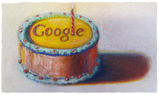 Google 12 Birthday image by Wayne Thiebaud