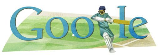 Google Logo: Cricket World Cup 2011, hosted by India, Sri Lanka and Bangladesh
