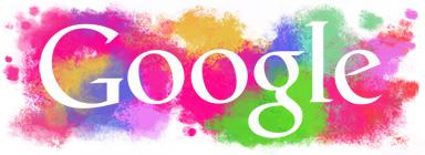 Google Logo: Holi 2011, festival of Colours - Spring religious festival celebrated by Hindus