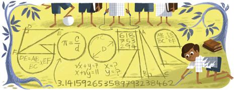 Il Doodle col quale Google India celebra oggi l'anniversario