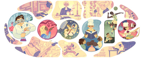 Doodle by Google for International Women's Day, 2015.