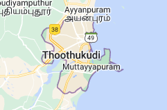 Map of Tuticorin India