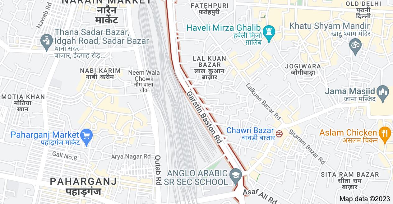 Map of Swami Shradhanand Marg, New Delhi, Delhi 110006