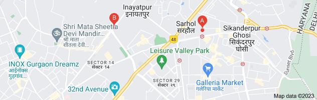 Map of rajdhani thali restaurant menu