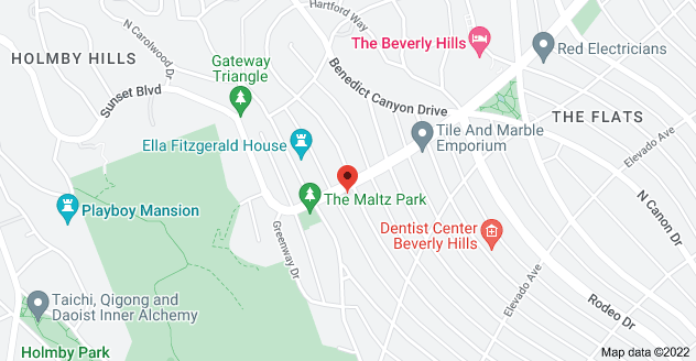 Map of 825 N Roxbury Dr, Beverly Hills, CA 90210, USA