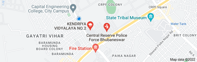 Map of google earth map of K.V.No.2, CRPF, Bhubaneswar