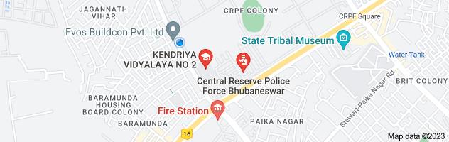 Map of google earth map of K.V.No.2, CRPF, Bhubaneswar